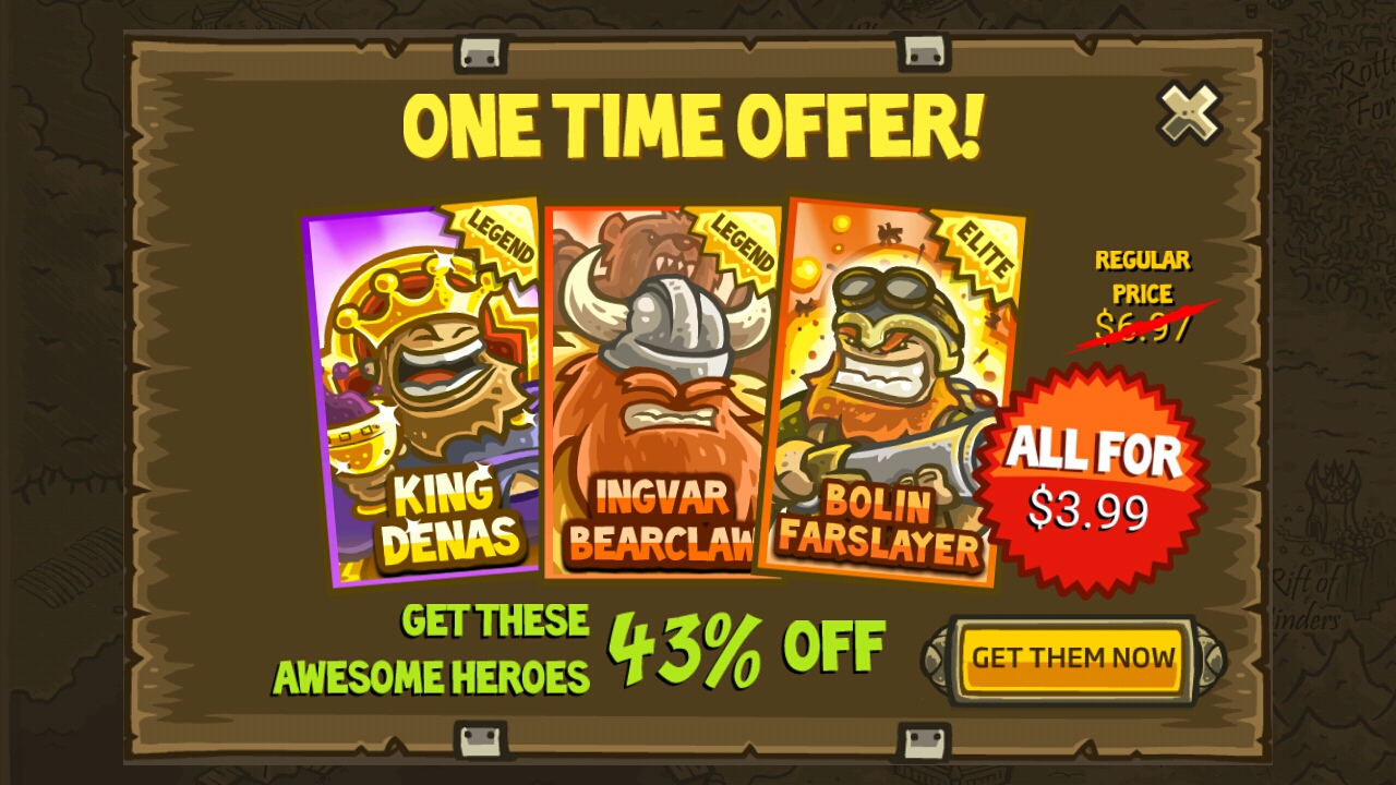 Kingdom Rush Buy Hero