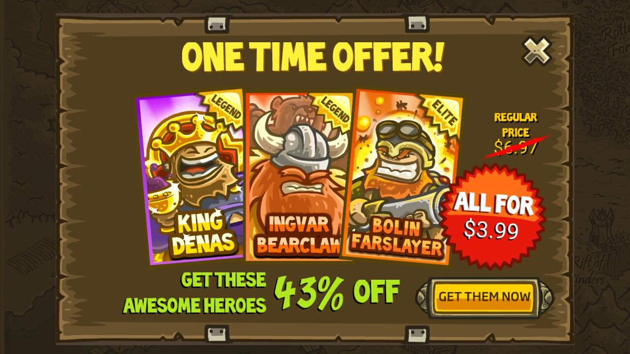 Kingdom Rush Buy Hero