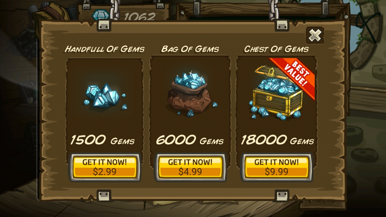 Kingdom Rush Buy Gems